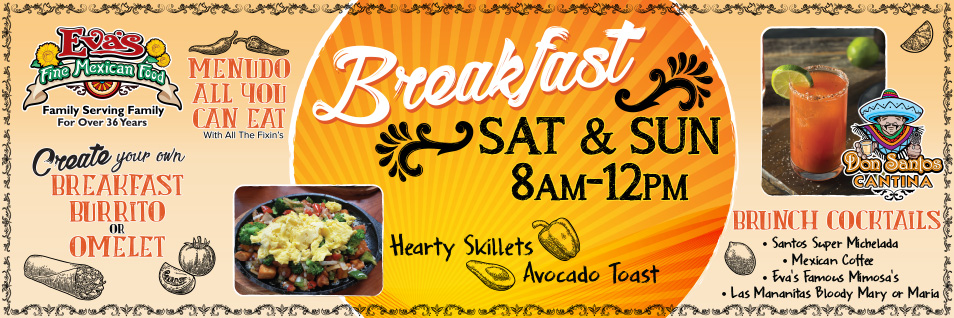 We have started serving breakfast on Saturday and Sunday from 8am-12pm